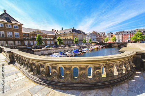 Old Town and canal in Copenhagen, Denmark in a summer day Wallpaper Mural