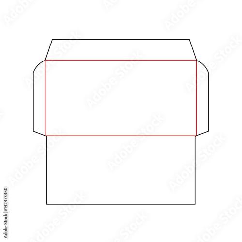 no 10 envelope template - the envelope dl size die cut template stamp vector black