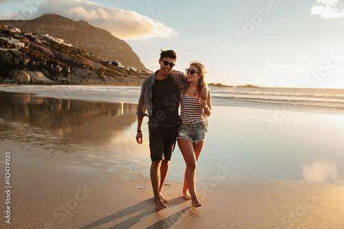 Couple enjoying a day at beach
