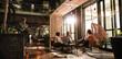 Leinwanddruck Bild - Business people in modern office