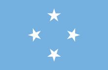 Vector Of Amazing Micronesian Flag.