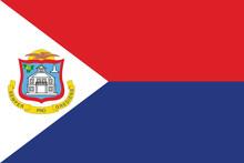 Vector Of Amazing Sint Maarten Flag.