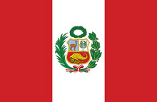 Vector Of Amazing Peruvian Flag.