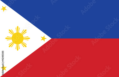 Photo Vector of amazing Philippines flag.