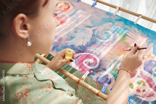 Painting woman Fototapet