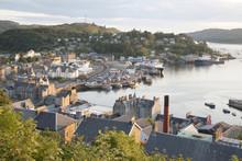 Oban Harbor In Scotland, UK In...