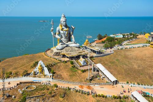 Stampa su Tela Statue of Lord Shiva was built at Murudeshwar
