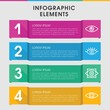Vision infographic design with elements.