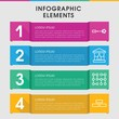 Backdrop infographic design with elements.