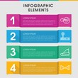 Physical infographic design with elements.