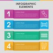 Seamless infographic design with elements.