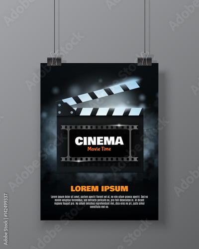Cinema festival Flyer Or Poster Canvas Print