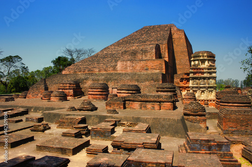 Ruins of Nalanda University, Bihar, India  IMAGES, GIF, ANIMATED GIF, WALLPAPER, STICKER FOR WHATSAPP & FACEBOOK