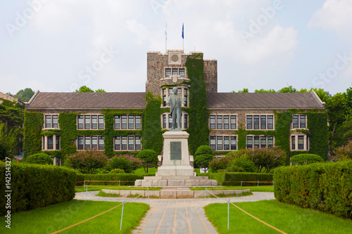 Main historical and administrative building of prestigious Yonsei University - S Poster
