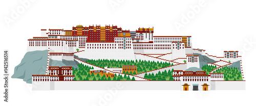 Fotografie, Obraz  Potala Palace, Lasha (Tibet), China