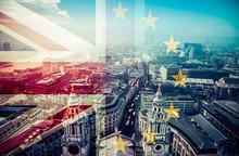 Brexit Concept - Union Jack Fl...