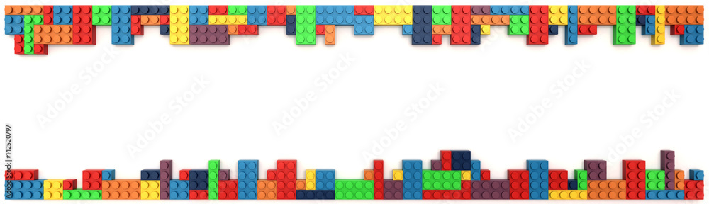 Fototapety, obrazy: Plastic building blocks