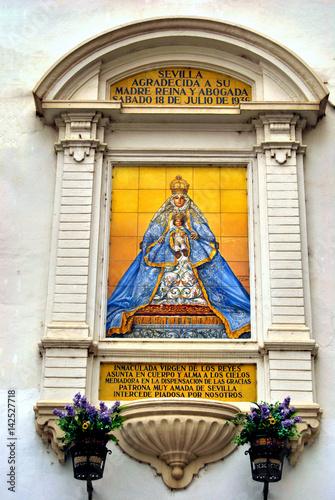 Fotografie, Obraz  Retablon Ceramico Virgen de los Reyes
