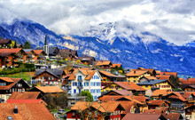 Old Town Oberried, Brienz, Int...