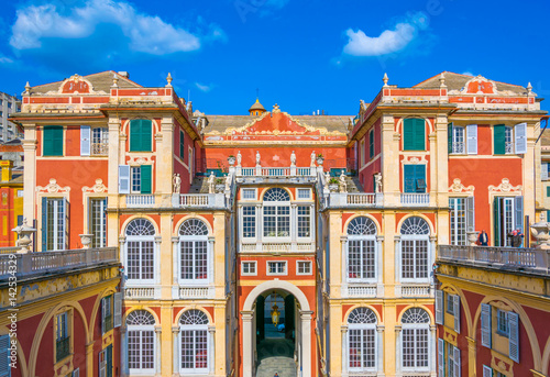 Fotografia  Courtyard of Palazzo Reale in Genoa, Italy