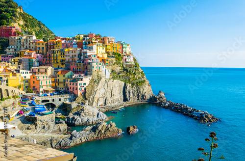 In de dag Mediterraans Europa Manarola village in cinque terre region of Italy.