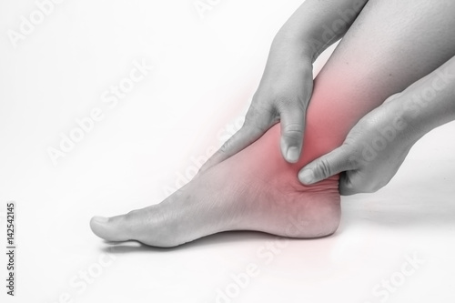 Photo ankle injury in humans