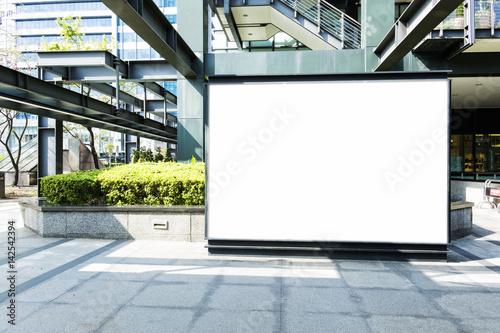 Obraz blank billboard on the city street - fototapety do salonu
