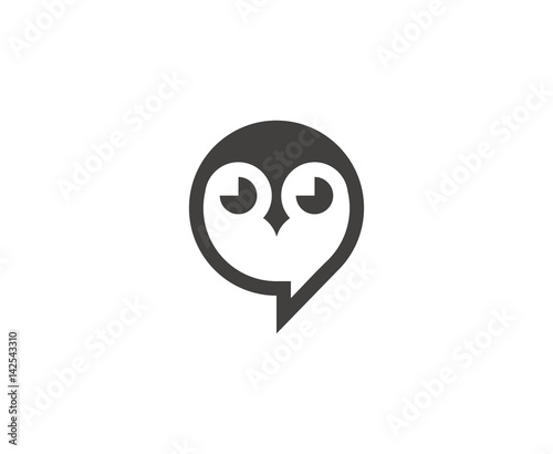 Spoed Foto op Canvas Uilen cartoon Owl logo