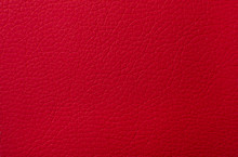 Red Leather Texture Print As Background.