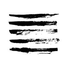 Set Of Hand Drawn Grunge Brush...