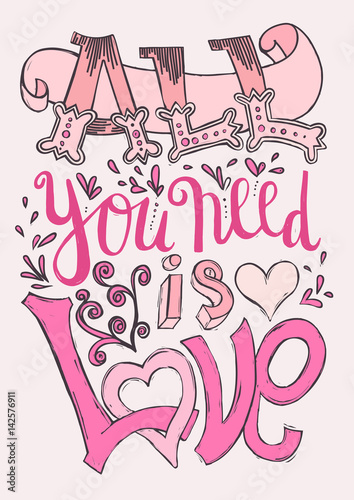 Photo  All you need is love poster