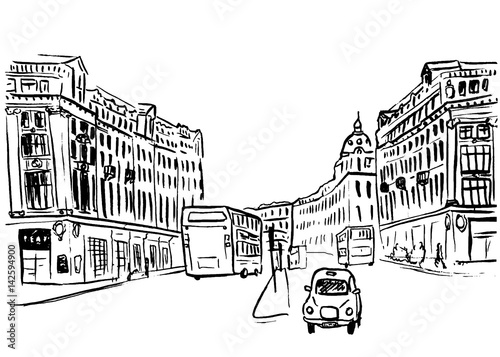 Photo  sketch of Regent Street