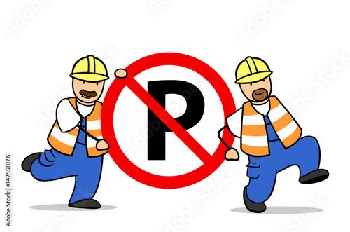 verkehrsschild parken verboten