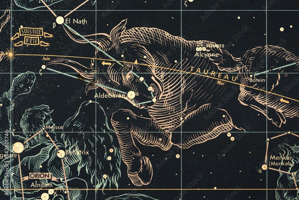 Fototapeta mapa nieba- byk