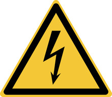 ISO 7010 W012 Warning; Electricity
