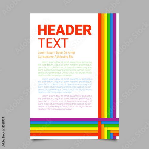 Foto  Vector illustration in LGBT colors