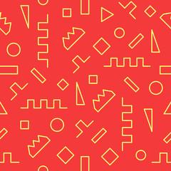 Geometric seamless pattern for fashion and wallpaper. Circle, sq