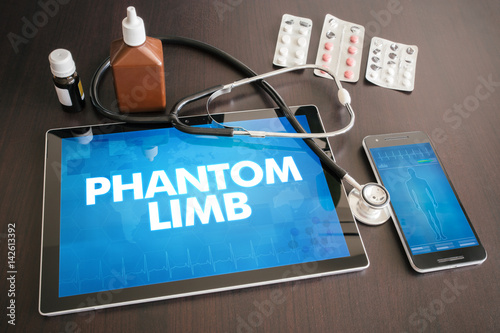Photo  Phantom limb (neurological disorder) diagnosis medical concept on tablet screen