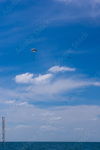 Foto op Canvas Luchtsport Glider, sky, clouds