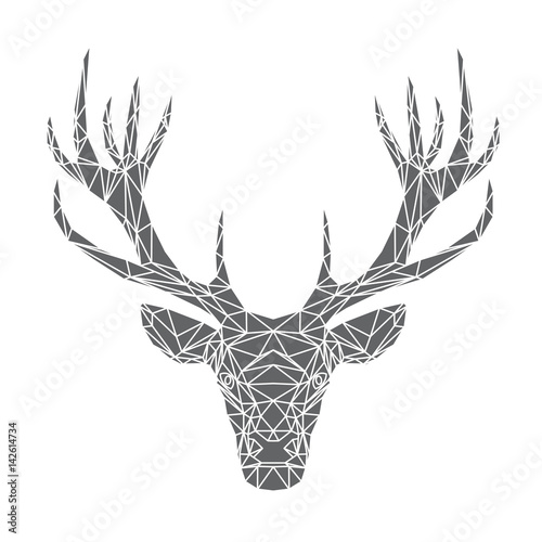 testa-di-cervo-illustrazione-vettoriale