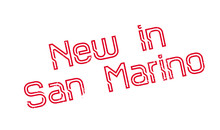 New In San Marino Rubber Stamp...