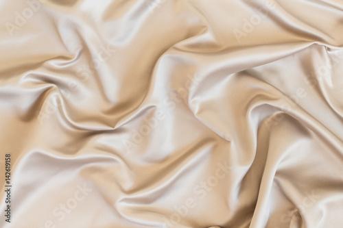 Obraz na plátně Wavy beige organza close-up