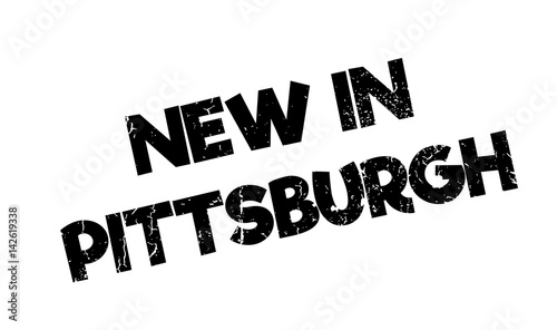 New In Pittsburgh rubber stamp Wallpaper Mural