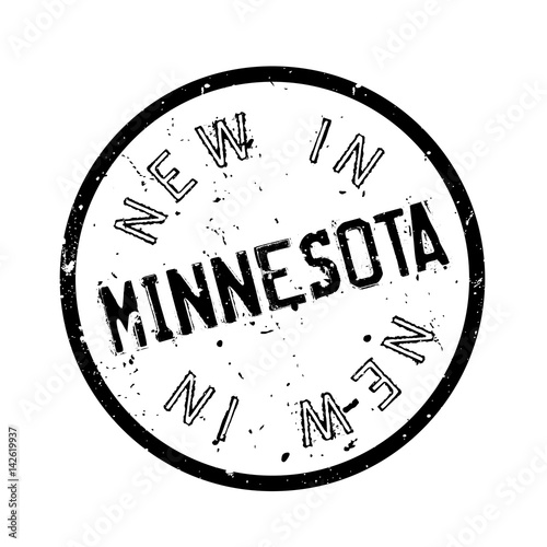 Photo  New In Minnesota rubber stamp
