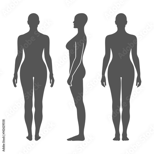 Naked standing woman silhouette Wallpaper Mural