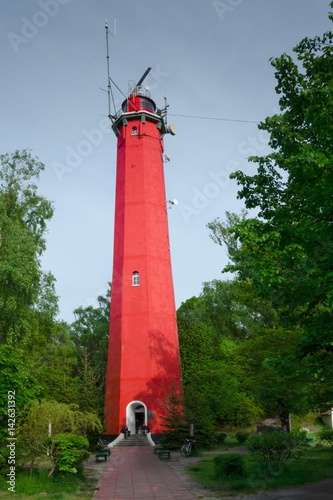 Foto op Aluminium Vuurtoren Lighthouse in Hel. Poland.