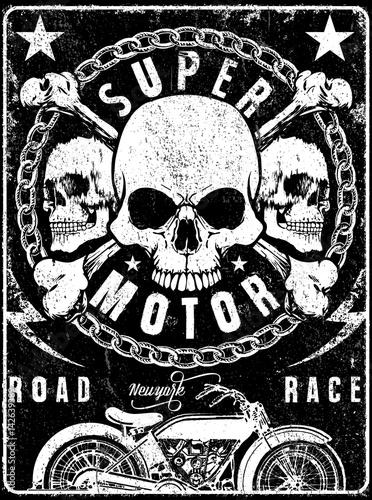 Fotografía Skull T shirt Graphic Design