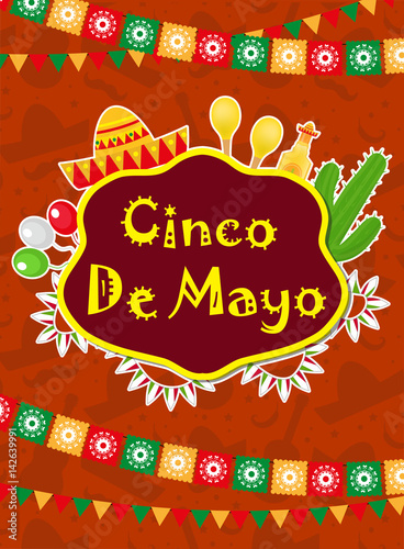 Cinco de mayo greeting card template for flyer poster invitation cinco de mayo greeting card template for flyer poster invitation mexican celebration m4hsunfo