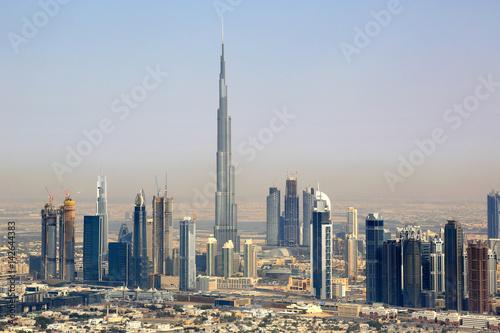 Canvas Print Dubai Burj Khalifa Downtown Luftaufnahme Luftbild