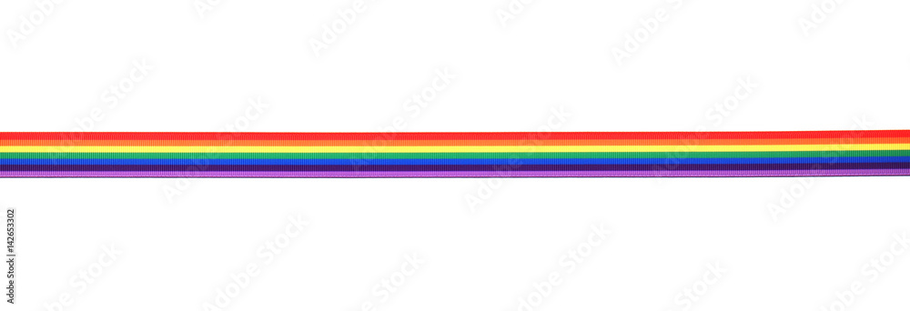 Fototapety, obrazy: Rainbow ribbon isolated on white